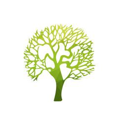 abstract tree polygonal vector image