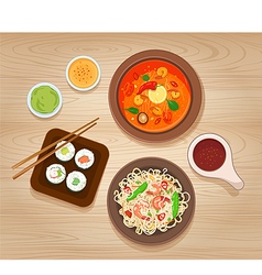 Asian Food vector image vector image