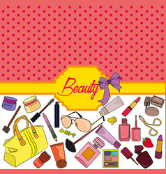 Beauty background vector