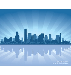 Boston massachusetts skyline vector