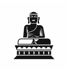 Buddha statue icon simple style vector image