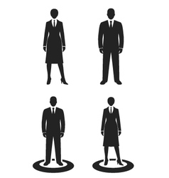 business people black web icon vector image vector image