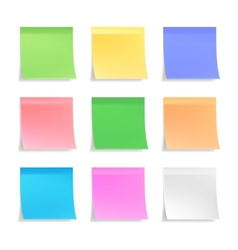 Collection of sticky notes vector image vector image