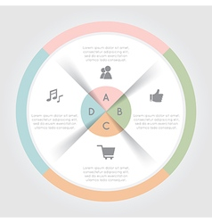 Color circular chart infographic vector