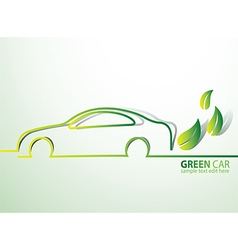 Eco car2 vector image vector image