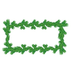 Frame of Christmas fir tree branches vector image vector image
