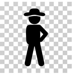 Gentleman audacity icon vector