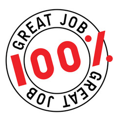 Great job stamp typographic stamp vector