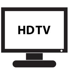 HD TV Icon vector image vector image