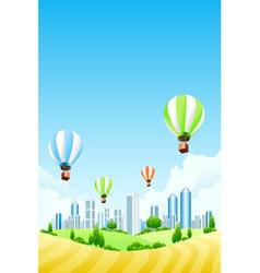 hot air ballooning vector image
