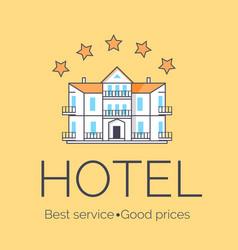 hotel five stars icon vector image vector image