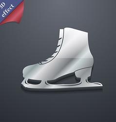 Ice skate icon symbol 3d style trendy modern vector