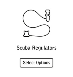 Icon regulator scuba diving equipment vector