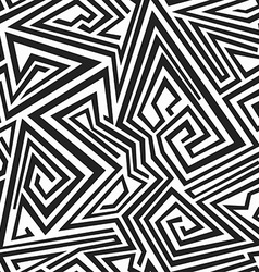 Monochrome spiral lines seamless pattern vector