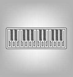 Piano keyboard sign pencil sketch vector