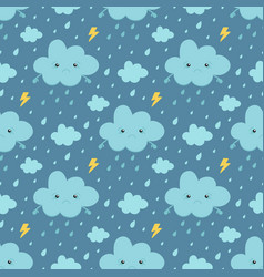 rainy weather seamless pattern background vector image