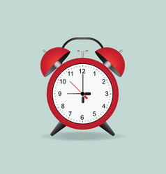 red alarm clock isolated on background vector image vector image