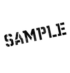 sample rubber stamp vector image