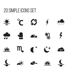 set of 20 editable air icons includes symbols vector image