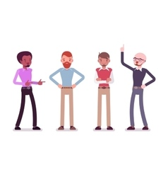 Set of male characters in a casual wear vector image vector image