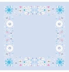 Snowflakes border winter frame design element vector