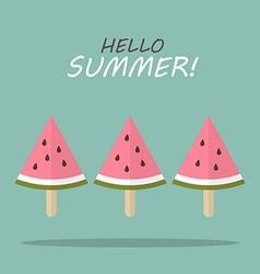 Watermelon fruit ice cream vector