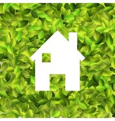 White house on leaf background eps10 vector