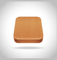 Wooden app icon on the gradient background vector