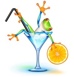 Cocktail frog vector