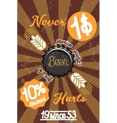 Retro styled beer banner vector