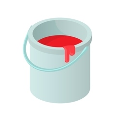 Bucket of paint icon cartoon style vector