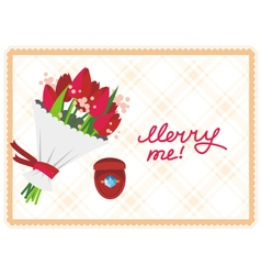 Card merry me vector