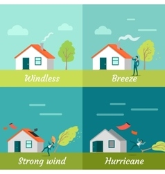 Wind strength levels windless breeze hurricane vector