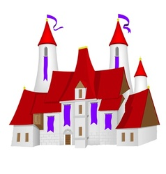 Fairy-tale castle vector
