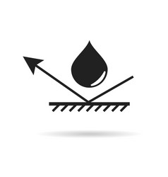 Waterproof material icon water protection vector