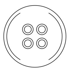 button for sewing icon outline style vector image