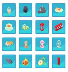 great britain icon blue app vector image