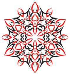 Tribal ornament in the shape of snowflakes vector