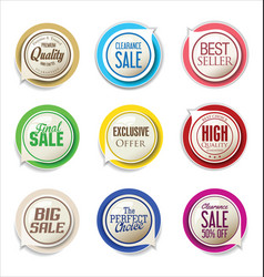 Abstract modern label collection vector