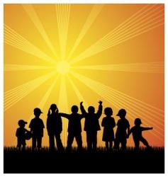 kids outdoor vector image