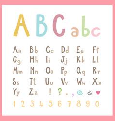 Cute colored alphabet vector