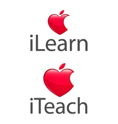 Apple heart teach learn low res vector