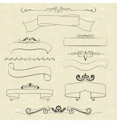 Ribbons and ornaments vector