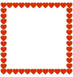 Red heart holiday gift background frame vector