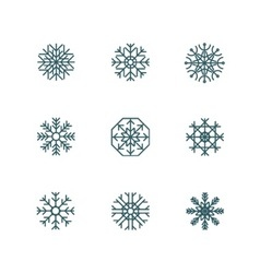 Snowflake icons collection vector