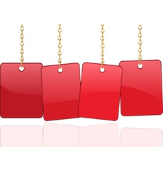 red cards vector image