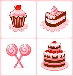 sweet cakes vector image