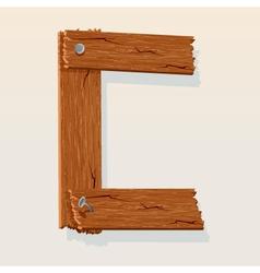 wooden letter c vector image