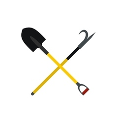 Shovel and scrap icon vector