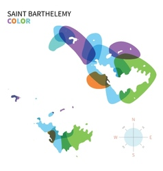 Abstract color map of Saint Barthelemy vector image